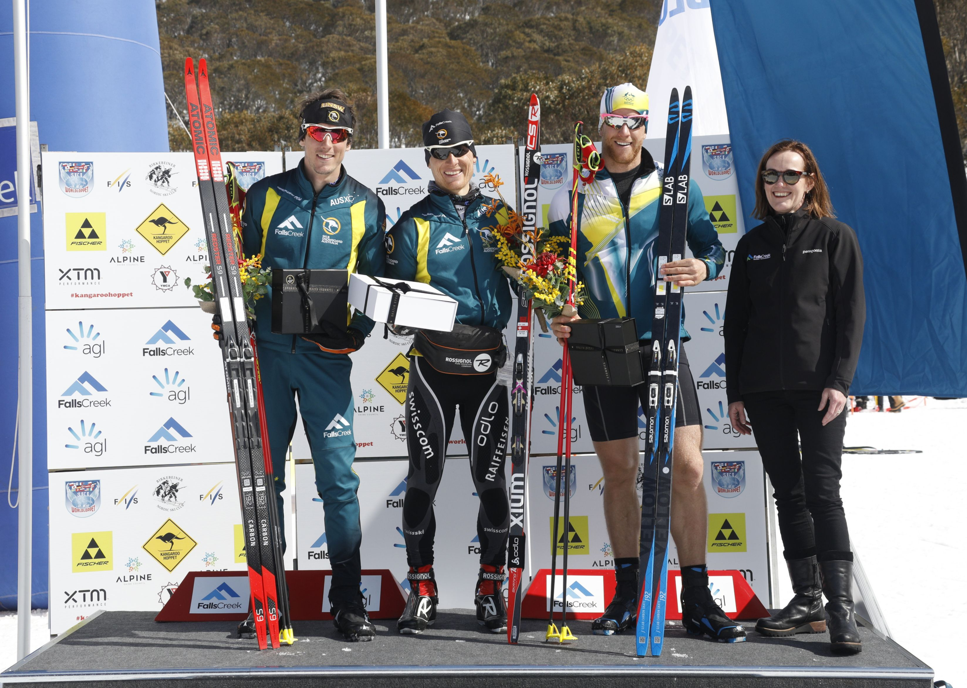 Hoppet podium - Men