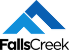 FallsCreek logo Blue stacked